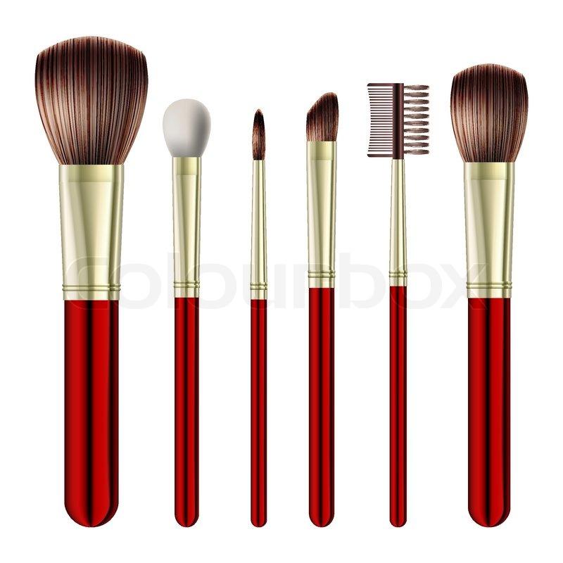 makeup brush vector - photo #17