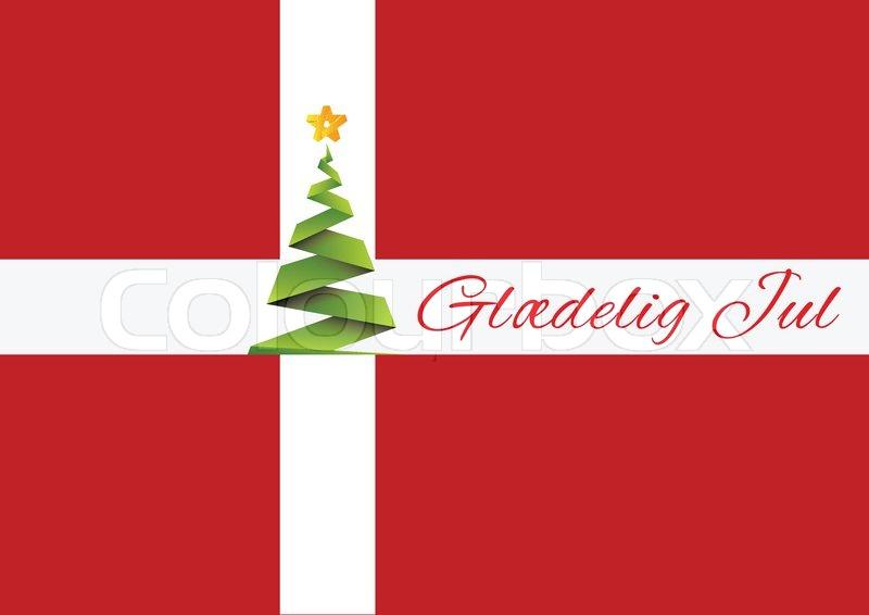 merry christmas background vector glaedeling jul denmark