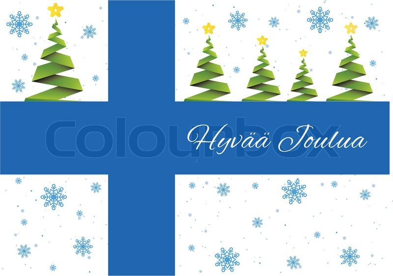 Finland Christmas Decorations.Merry Christmas Stock Vector Colourbox