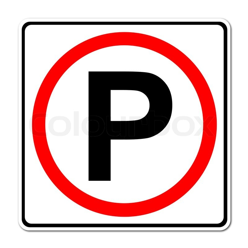 Parking traffic sign stock photo colourbox for De signs