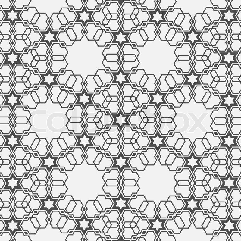 monochrom muster auf islamischen motiv  vektorgrafik