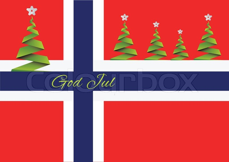 Merry Christmas BackgroundvectorGod JulNorway