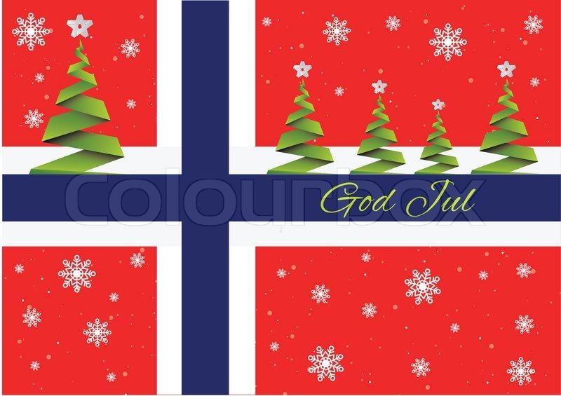 Merry Christmas BackgroundvectorGod JulNorway