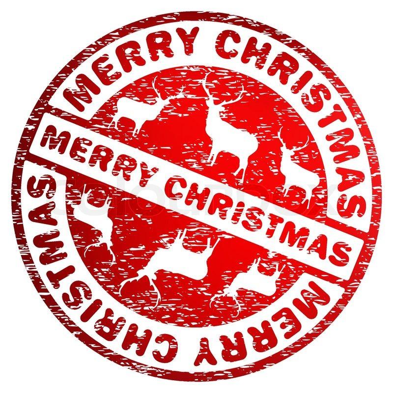 Merry Christmas stamp EPS 8   Stock Vector   Colourbox