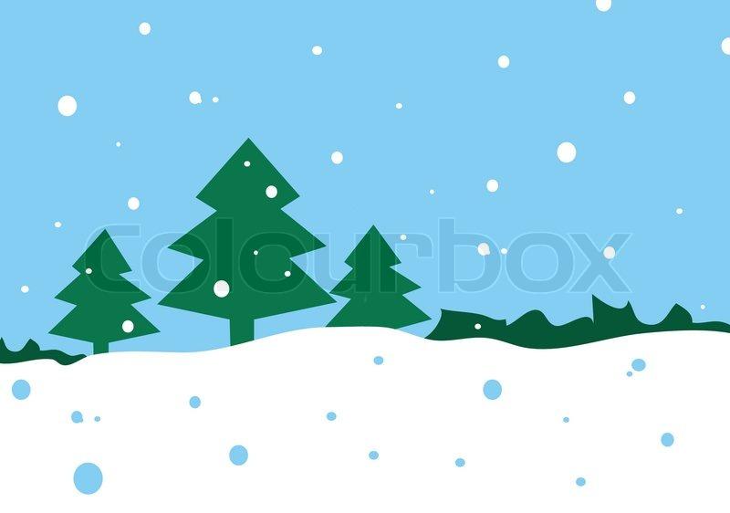 Winter Background Vector Free Vector Download 45 386 Free: Winter Cartoon Landscape Vector ...