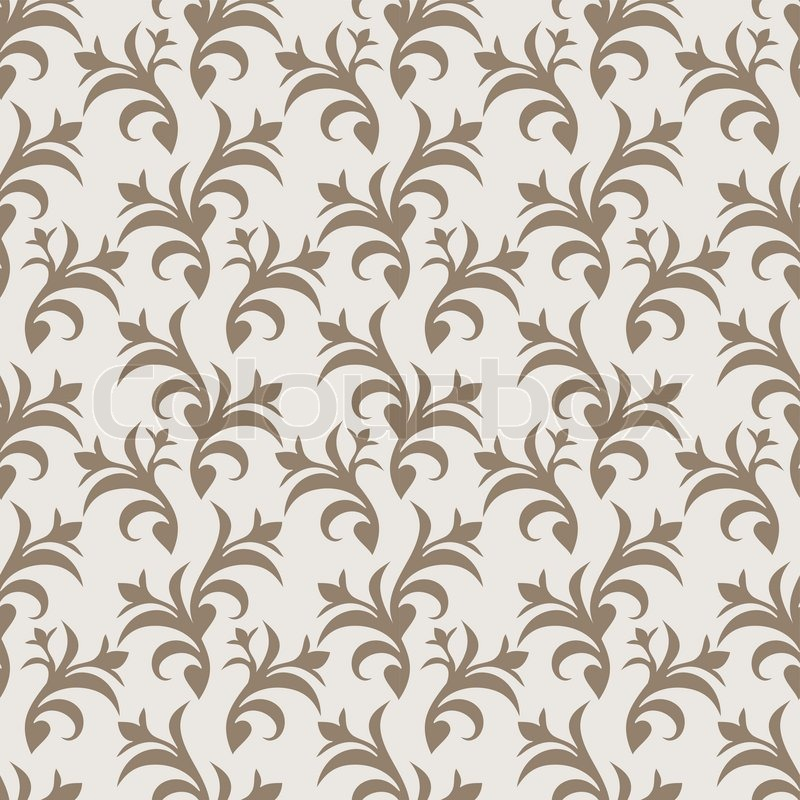 Vintage Beautiful Background With Retro Style Ornamentation Fashioned Seamless Pattern Beige