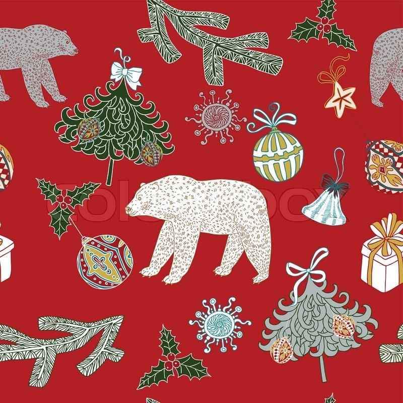 Weihnachten Und Neujahr Festlich Rotem Hintergrund Xmas