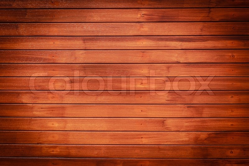 Dark Brown Wood Background Horizontal Pattern Stock