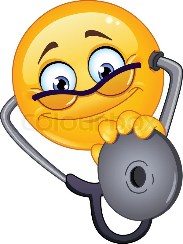 Emoticon Arzt Mit Stethoskop Vektorgrafik Colourbox