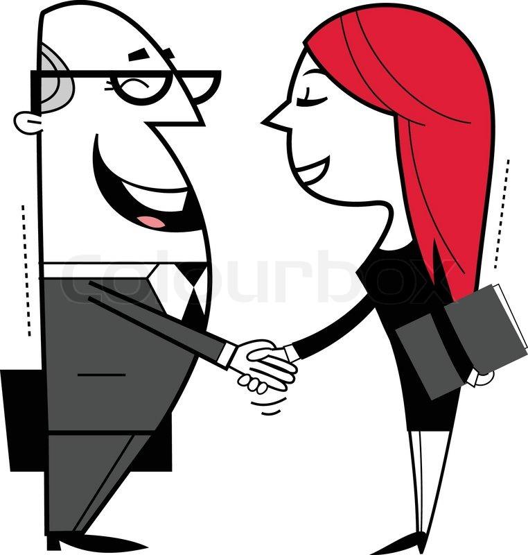 shaking hands cartoon illustration stock vector colourbox rh colourbox com shaking hands cartoon picture shaking hands cartoon picture