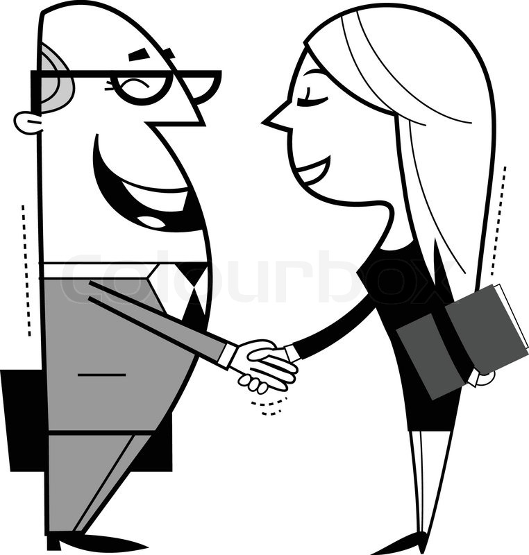 shaking hands cartoon illustration stock vector colourbox rh colourbox com handshaking cartoon images shake hands cartoon