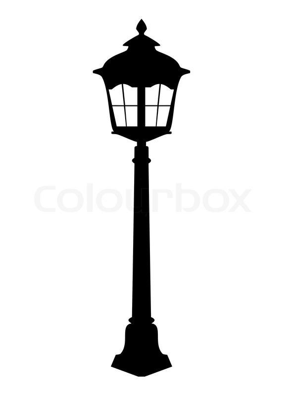 Old Lantern Silhouette Vector Stock Vector Colourbox