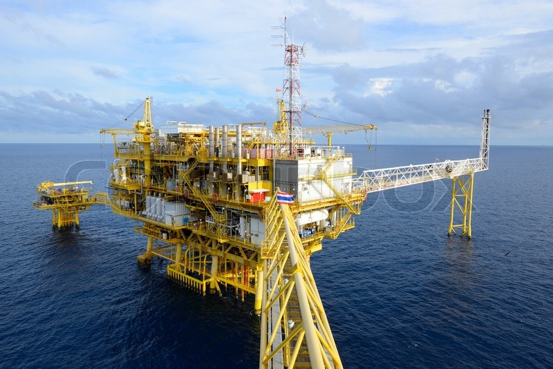 The oil rig, stock photo