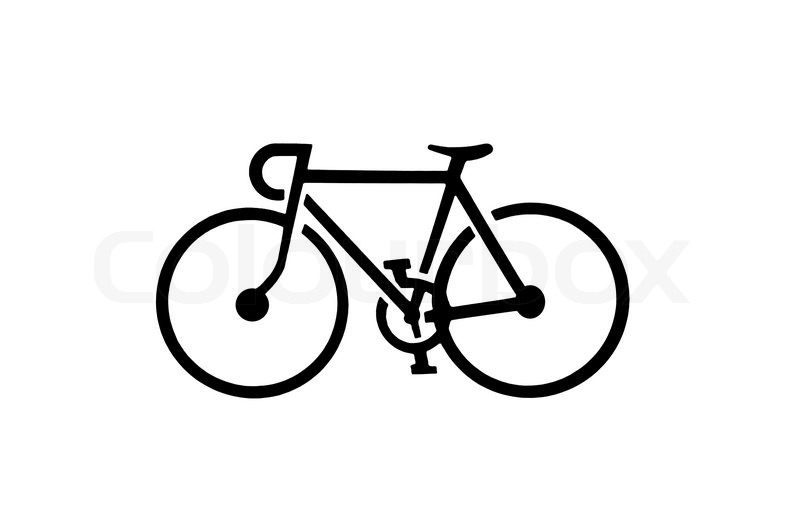 Bicycle Silhouette Stock Photo Colourbox