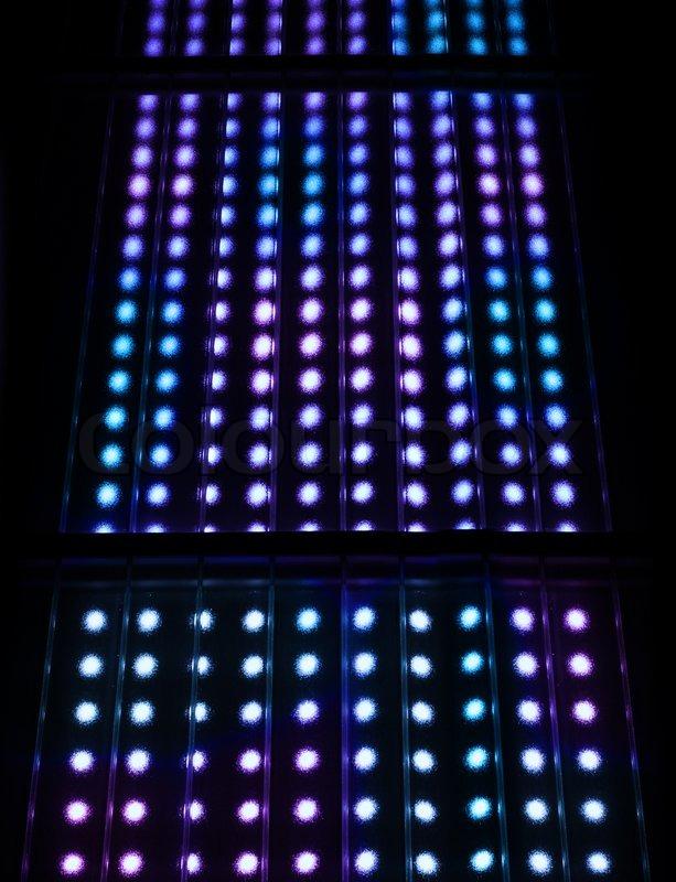 Light spots matrix background, stock photo