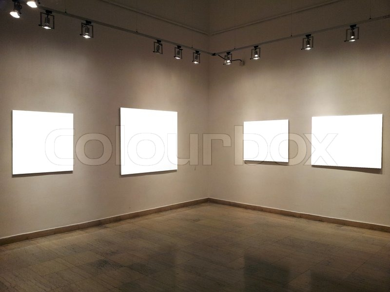 Gallery Walls With Blank Frames Stock Photo Colourbox