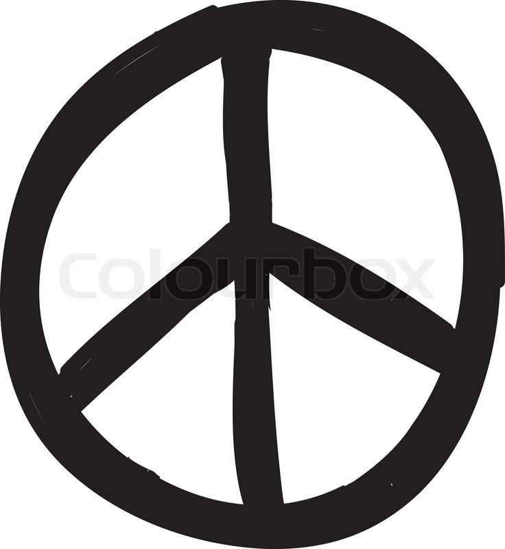 Peace Symbol Stock Vector Colourbox