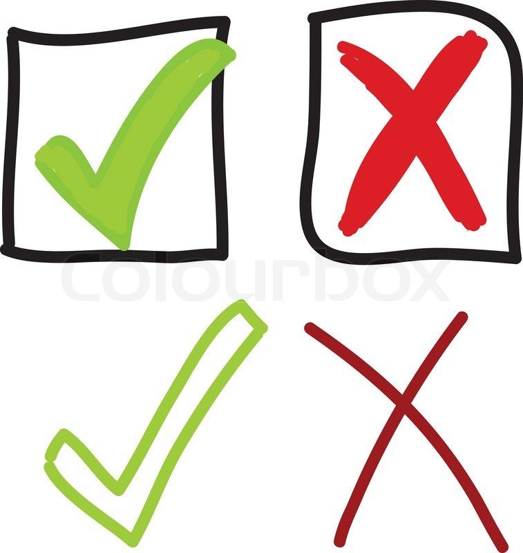 Tick and cross mark | Stock vector | Colourbox