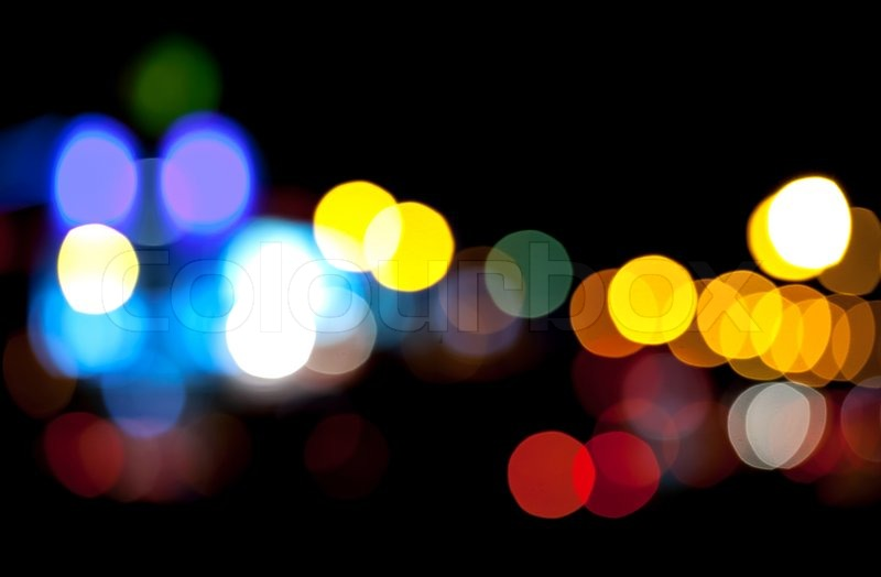 Bright Defocused Abstract Colorful Lights Background Natural Bokeh Patten Stock Photo