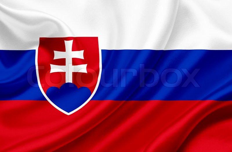 Slovakia waving flag | Stock image | Colourbox