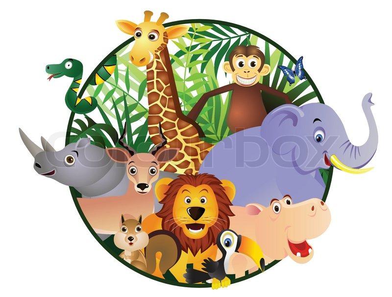 Safari Cartoon Stock Vector Colourbox