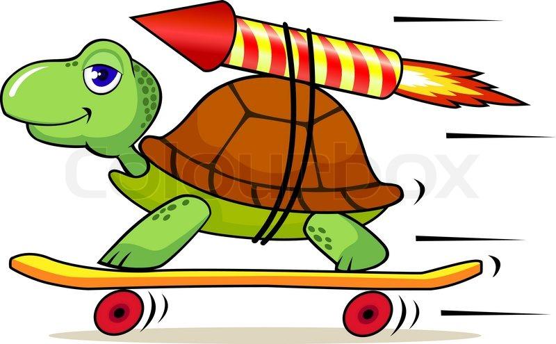 fast turtle cartoon stock vector colourbox rh colourbox com cartoon vector art cartoon vectoriel