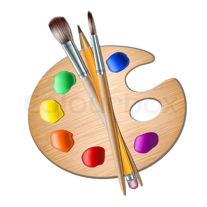 Paint Pad Dispenser ~ Kunst palette mit el zum zeichnen vektorgrafik