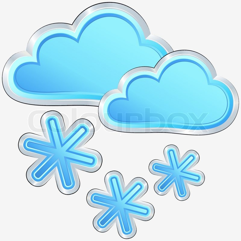 vector weather icon with a snow weather | stock vector | colourbox
