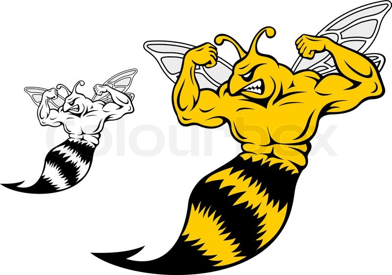 Danger Yellow Jacket With Muscles For Stock Vector Colourbox