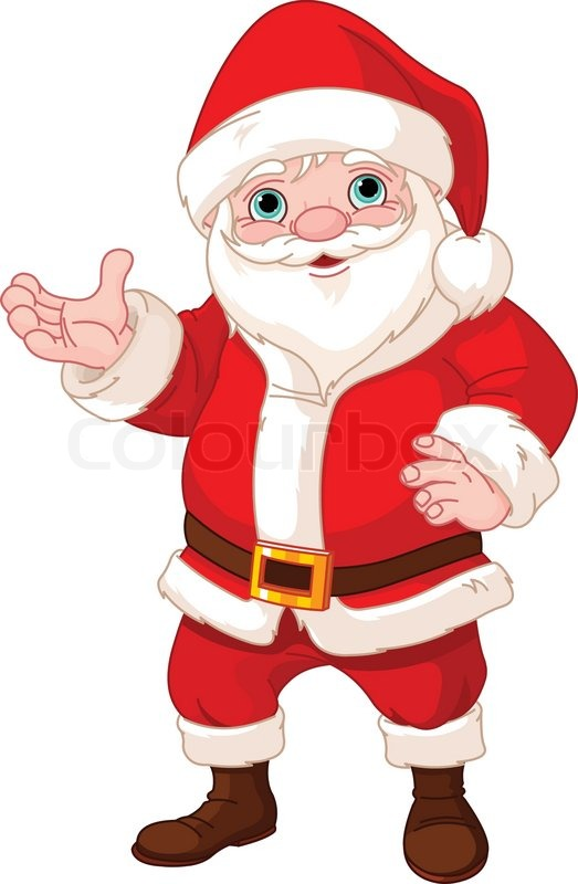santa claus showing to copy space vector - Santa Claus Santa Claus Santa Claus