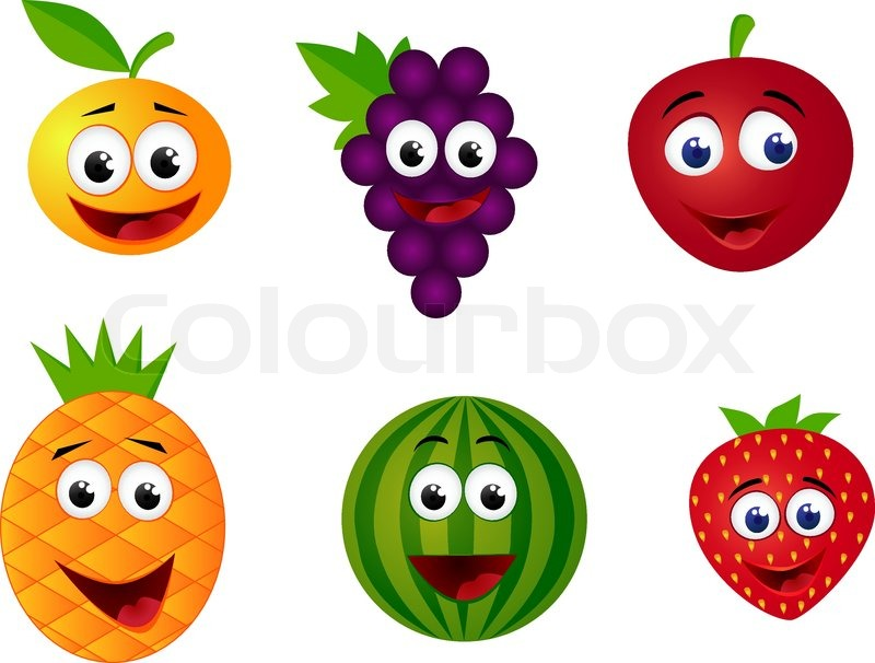Fruit character stock vector colourbox