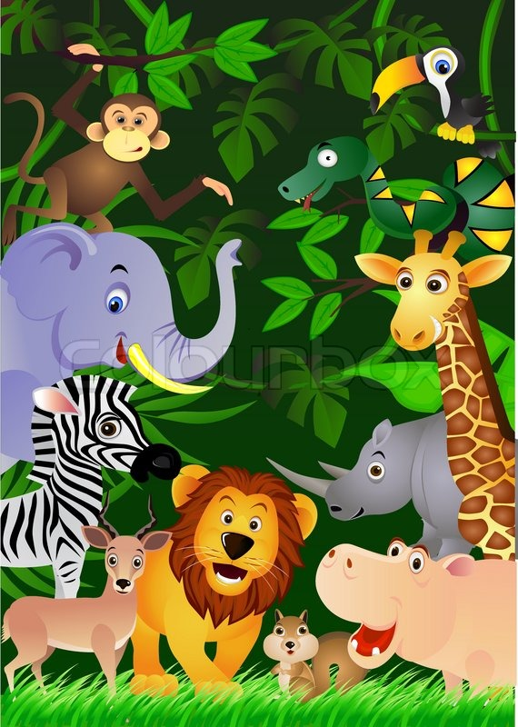 animal in the jungle stock vector colourbox leopard clipart with sign leopard clipart eating lunch