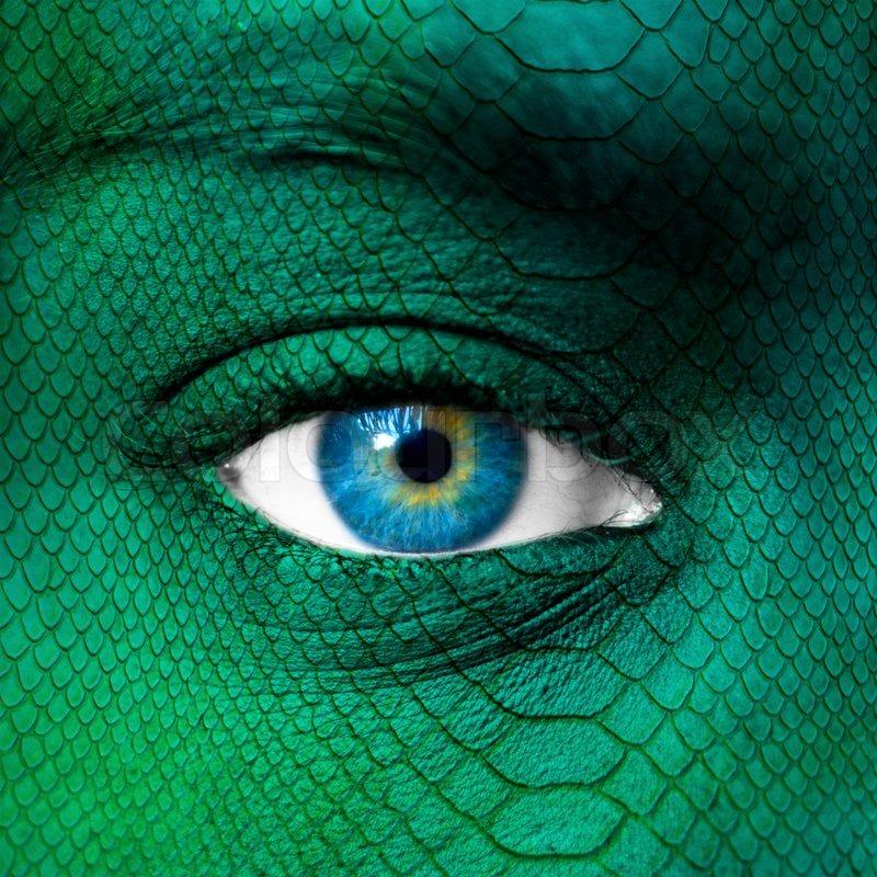 Crocodile Face Paint Images