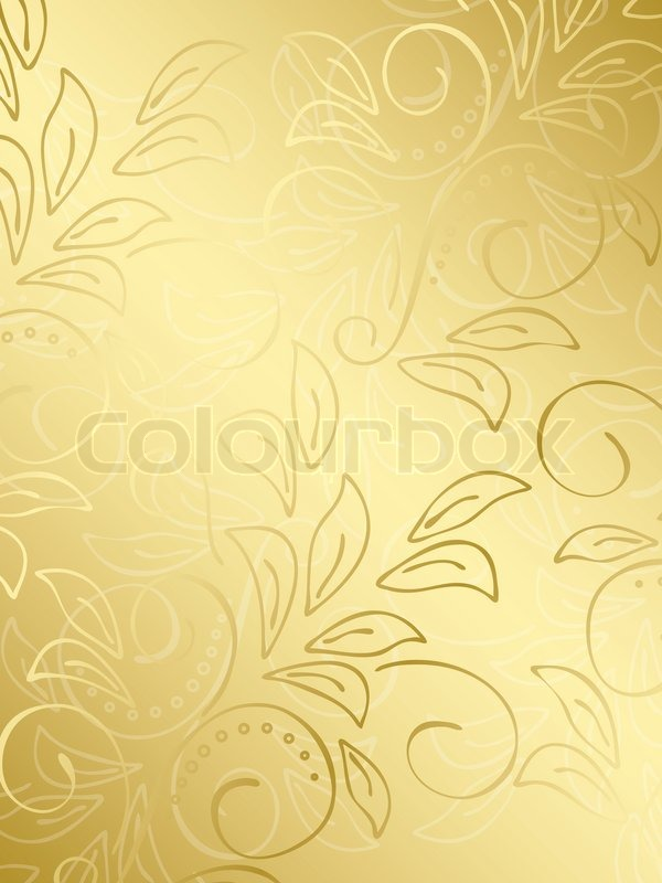 Gold Floral Background With Gradient Stock Photo Colourbox