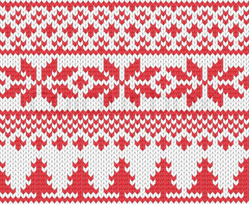 Christmas Knitted Background Stock Vector Colourbox