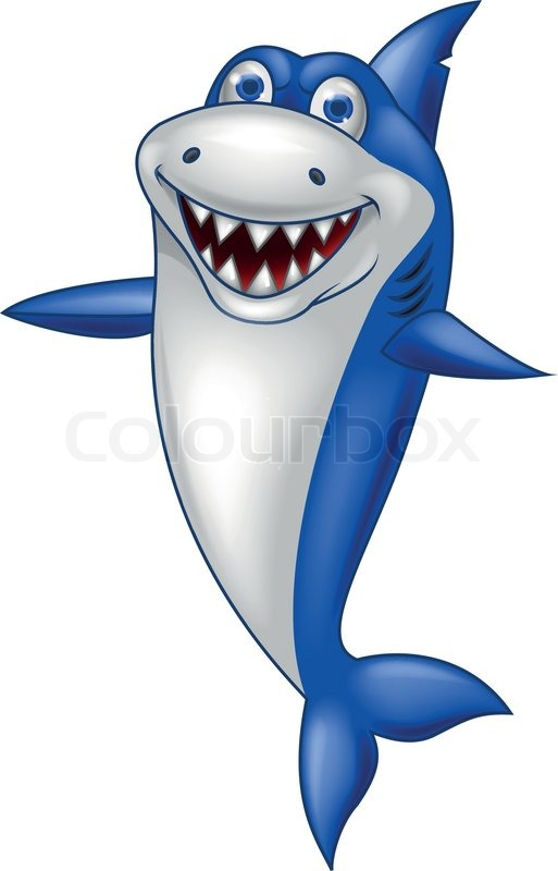 vector illustration of happy shark cartoon stock vector colourbox ocean life clipart images ocean life clipart free