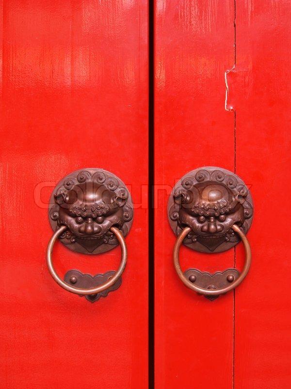 & Red chinese door | Stock Photo | Colourbox