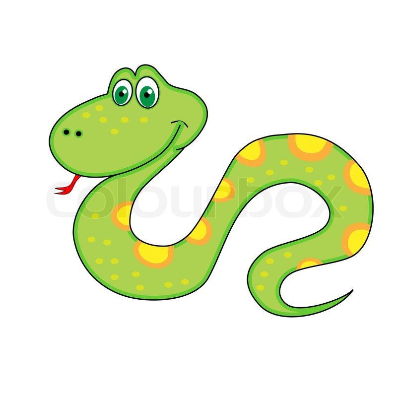 Neujahrs Symbol der Schlange mit Zunge | Vektorgrafik | Colourbox