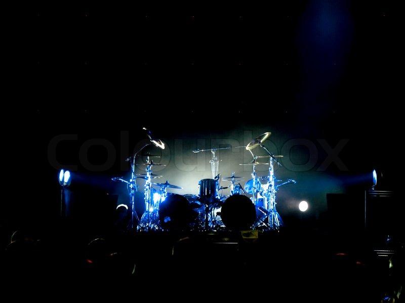 Drum Set On The Stage Stock Photo Colourbox