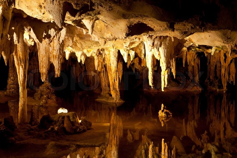 Cave Stalactites And Stalagmites Formations Limestone