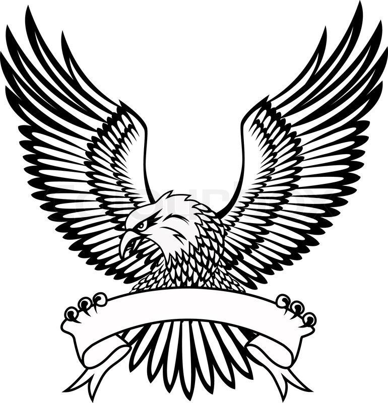 Eagle With Emblem Stock Vector Colourbox