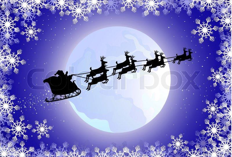 santa on his sleigh stock vector colourbox