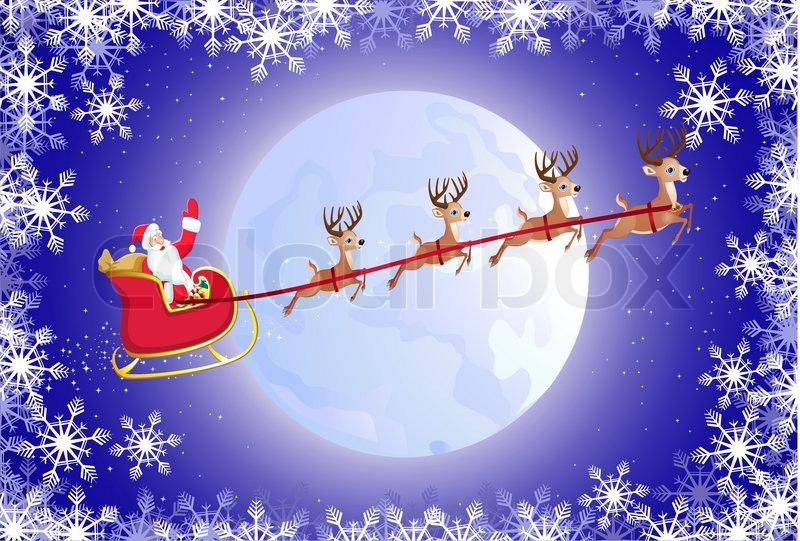santas sleigh stock vector colourbox