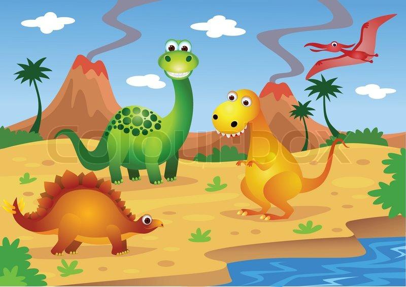 Dinosaurs   Stock vector   Colourbox