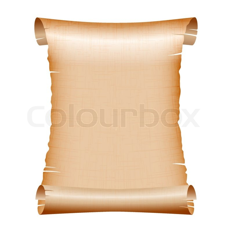 old blank scroll paper on white background | stock vector | colourbox, Powerpoint templates