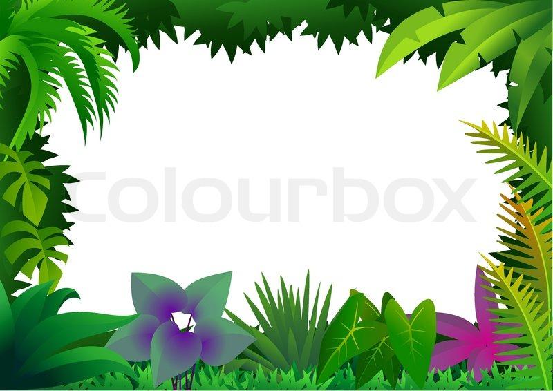 Forest frame | Stock Vector | Colourbox