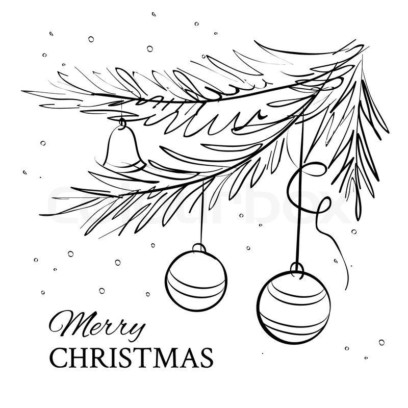 Weihnachten immergrüne Fichte   Vektorgrafik   Colourbox