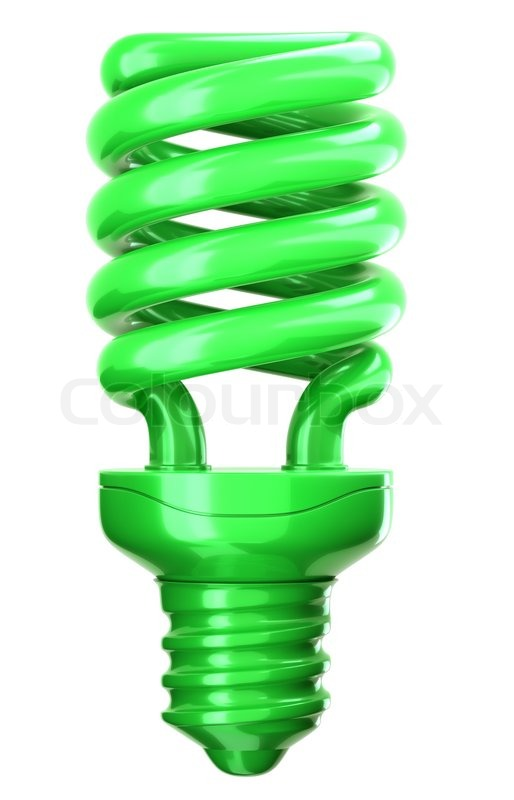 High Quality Green Light Bulb: Efficiency And Eco Friendly Technology | Stock Photo |  Colourbox Idea