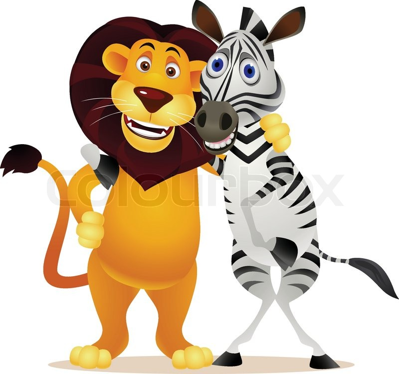 zebra and lion stock vector colourbox free cheer clipart free cheer clipart yellow