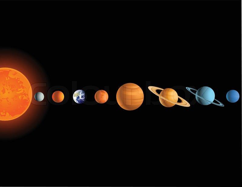 solar system vector - photo #45